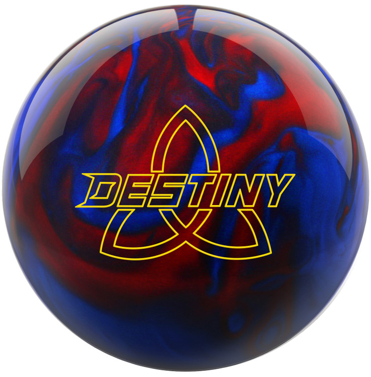 Ebonite Destiny Pearl Bowling Ball Black Red Blue