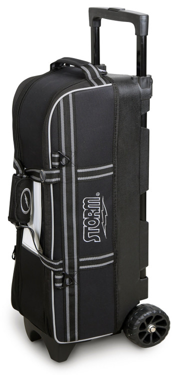 Storm 3 Ball In-Line Triple Tote Roller Bowling Bag Black