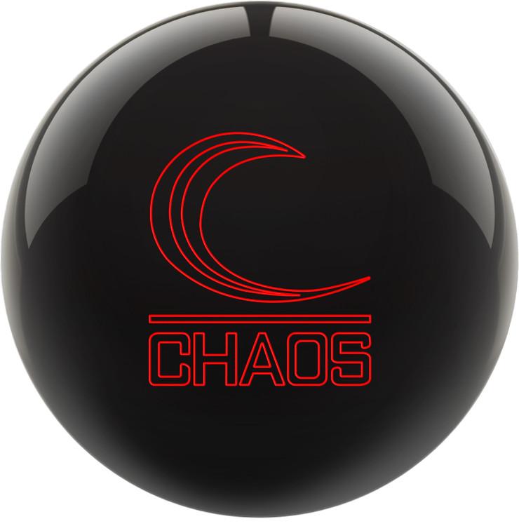 Columbia 300 Chaos Bowling Ball Black Front View