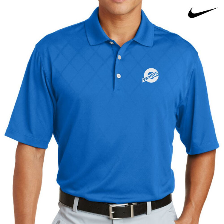 Ebonite Nike Dri-Fit Cross-Over Texture Mens Polo