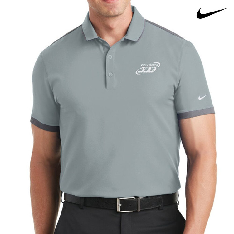 Columbia 300 Nike Dri-Fit Stretch Woven Mens Polo