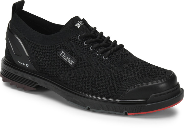 Dexter THE 9 ST Mens Bowling Shoes Black Strike Knit Wide Width