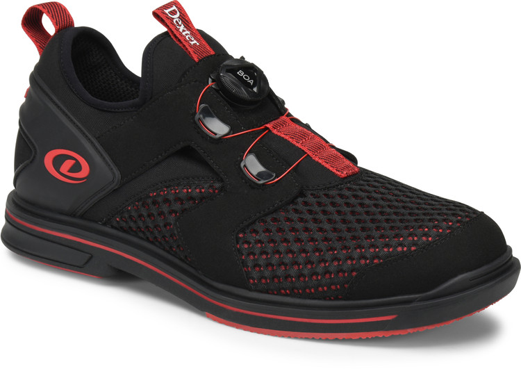 Dexter Pro BOA Mens Bowling Shoes Right Hand Black Red Wide Width