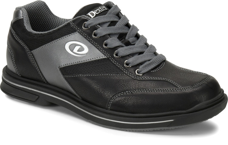 Dexter Match Play Mens Bowling Shoes Right Hand Black Alloy Wide Width