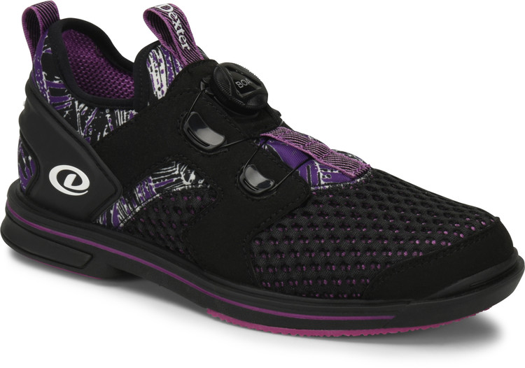 Dexter Pro BOA Women's Bowling Shoes Right Hand Black Purple