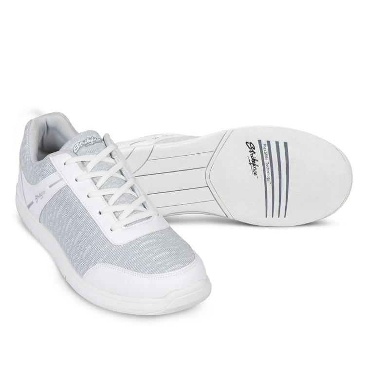 KR Strikeforce Flyer Mens Bowling Shoes Mesh White Grey