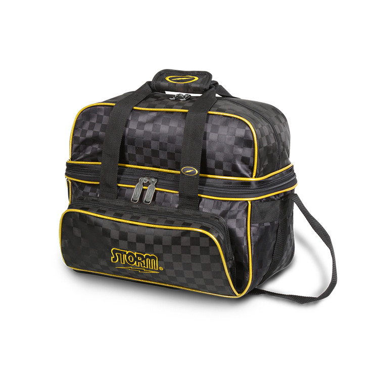 Storm Deluxe 2 Ball Tote Bowling Bag Black Gold