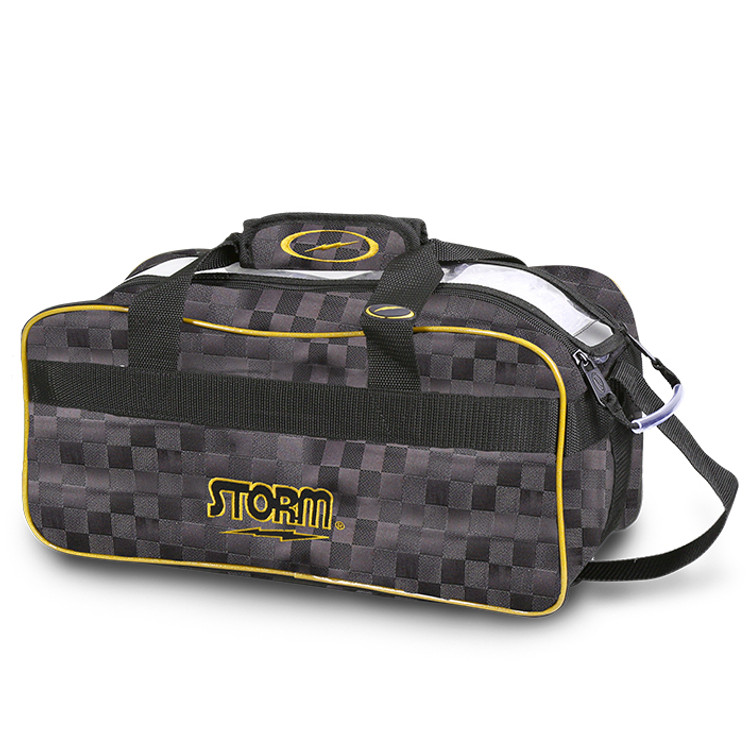 Storm 2 Ball Tote Bowling Bag Black Gold