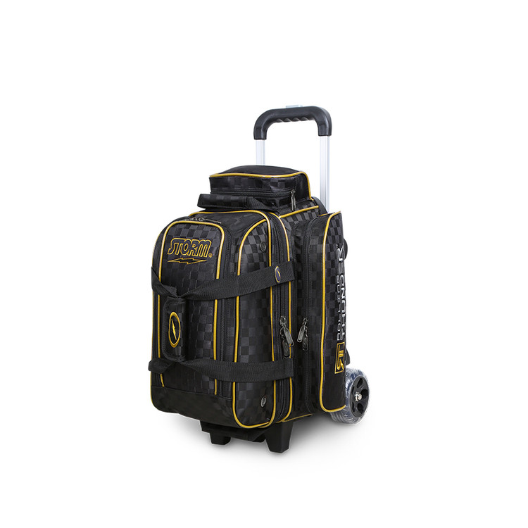 Storm Rolling Thunder 2-Ball Roller Bowling Bag Black Gold