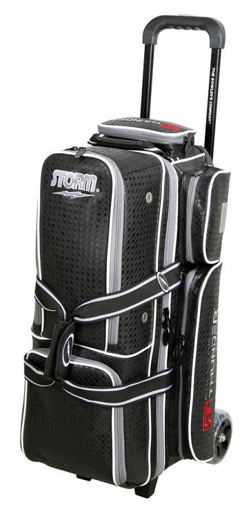 Storm Rolling Thunder 3-Ball Roller Bowling Bag Black Diamond Signature