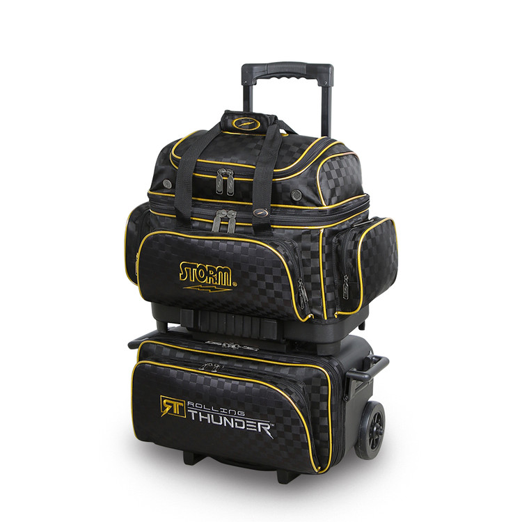 Storm Rolling Thunder 4-Ball Roller Bowling Bag Black Gold