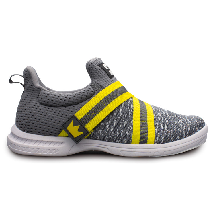 Brunswick Slingshot Bowling Shoes Grey Yellow