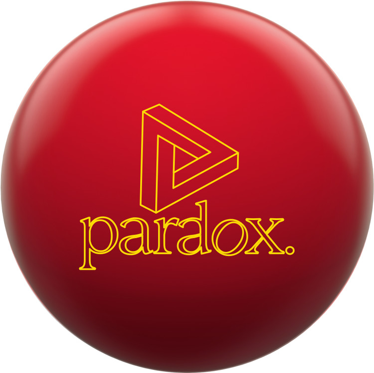 Track Paradox Red Bowling Ball Front View