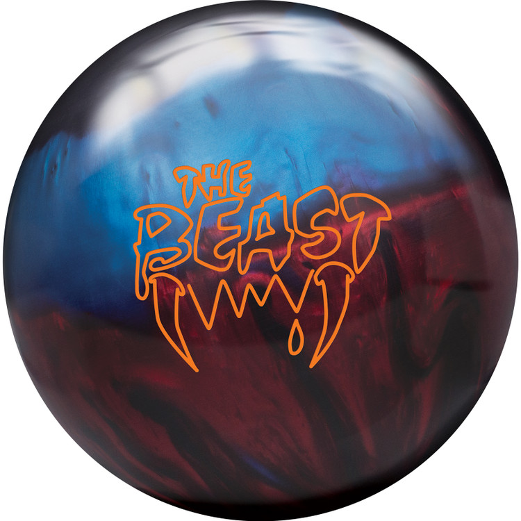 Columbia 300 Beast Bowling Ball Blue Red Black Front View