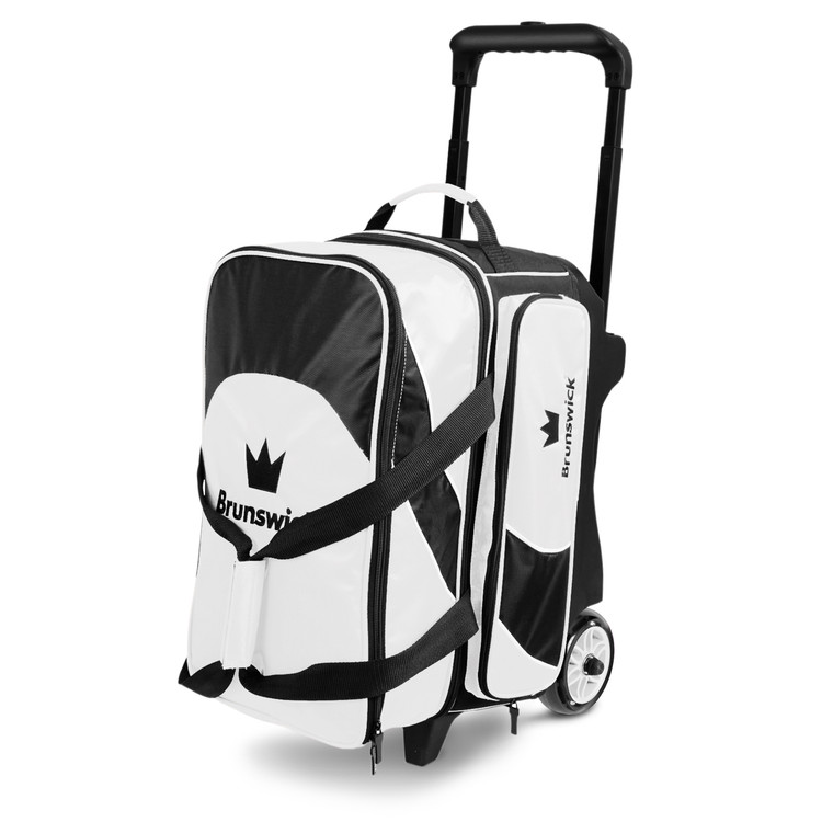 Brunswick Edge 2 Ball Double Roller Bowling Bag White