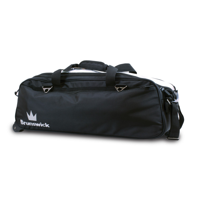 Brunswick Combat 3 Ball Triple Tote Bowling Bag Black