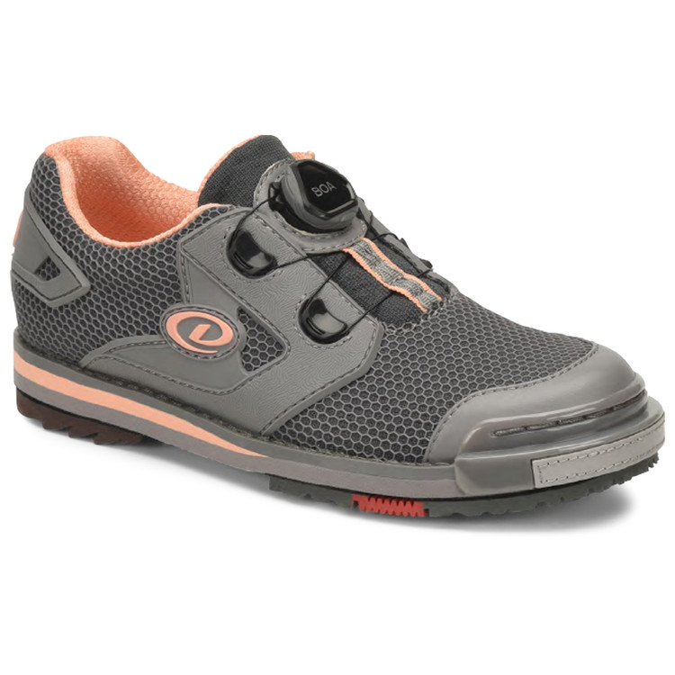Dexter THE 8 Power Frame BOA Womens Bowling Shoes Grey Peach