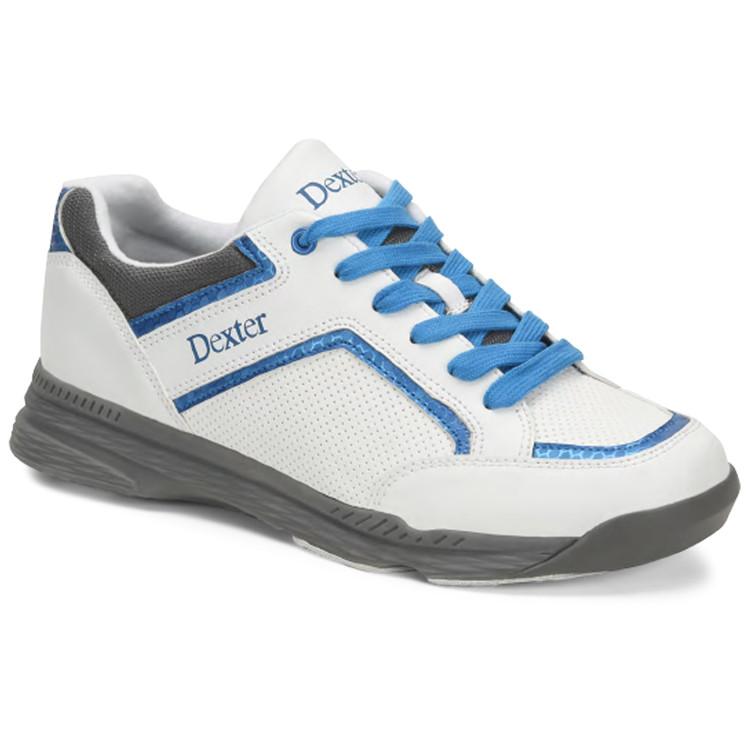 Dexter Bud Mens Bowling Shoes White Blue