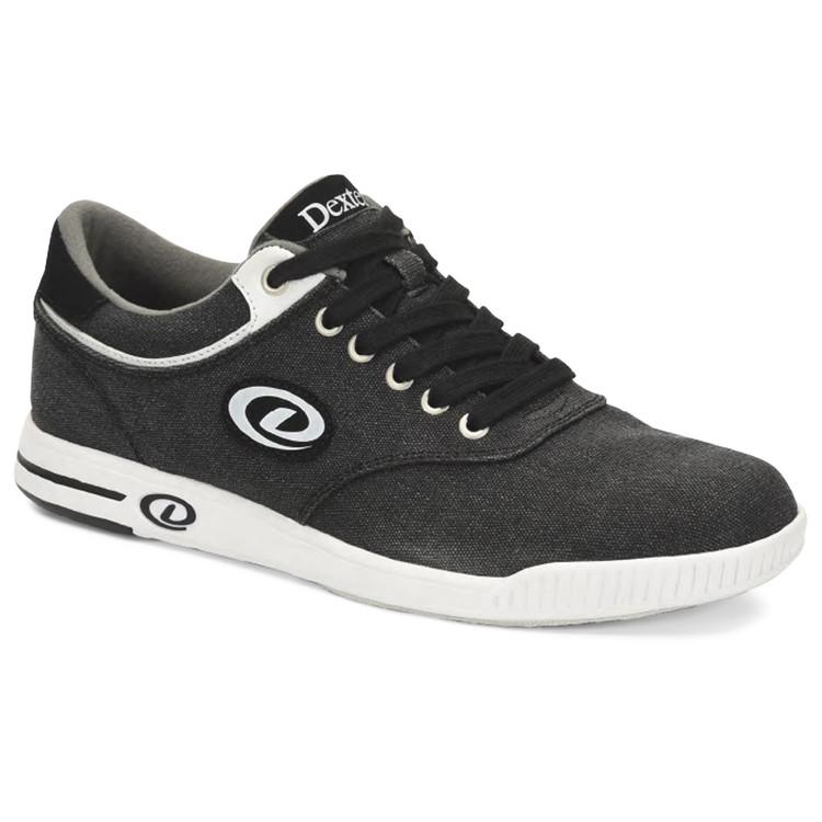 Dexter Kory III Comfort Canvas Mens Bowling Shoes Black White