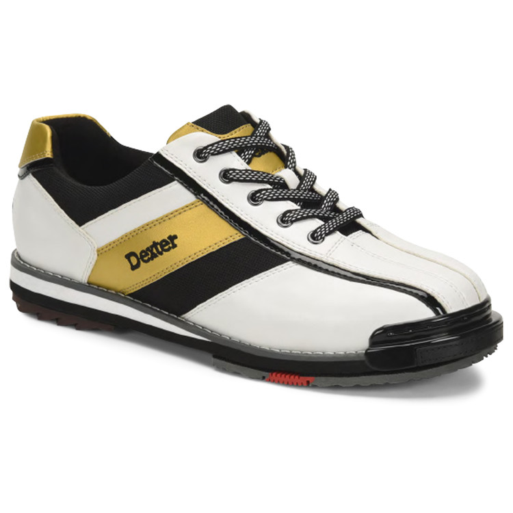 Dexter SST 8 Pro Mens Bowling Shoes White Black Gold