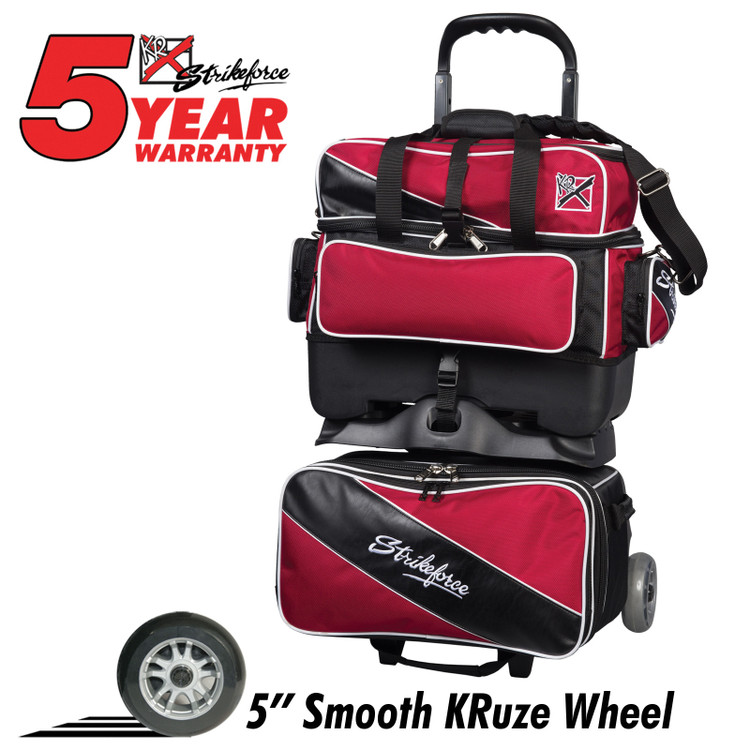 KR Fast 4 Ball Roller Bowling Bag Red Black