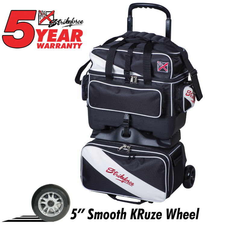 KR Fast 4 Ball Roller Bowling Bag Black White