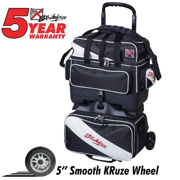 KR Fast 4 Ball Roller Bowling Bag Black White