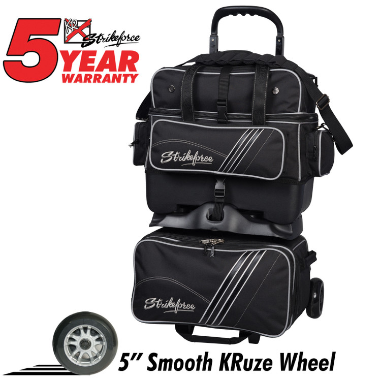 KR LR4 Ball Roller Bowling Bag Black
