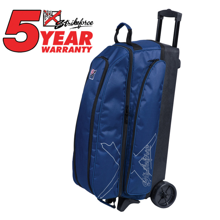 KR Hybrid X 3 Ball Roller Bowling Bag Navy