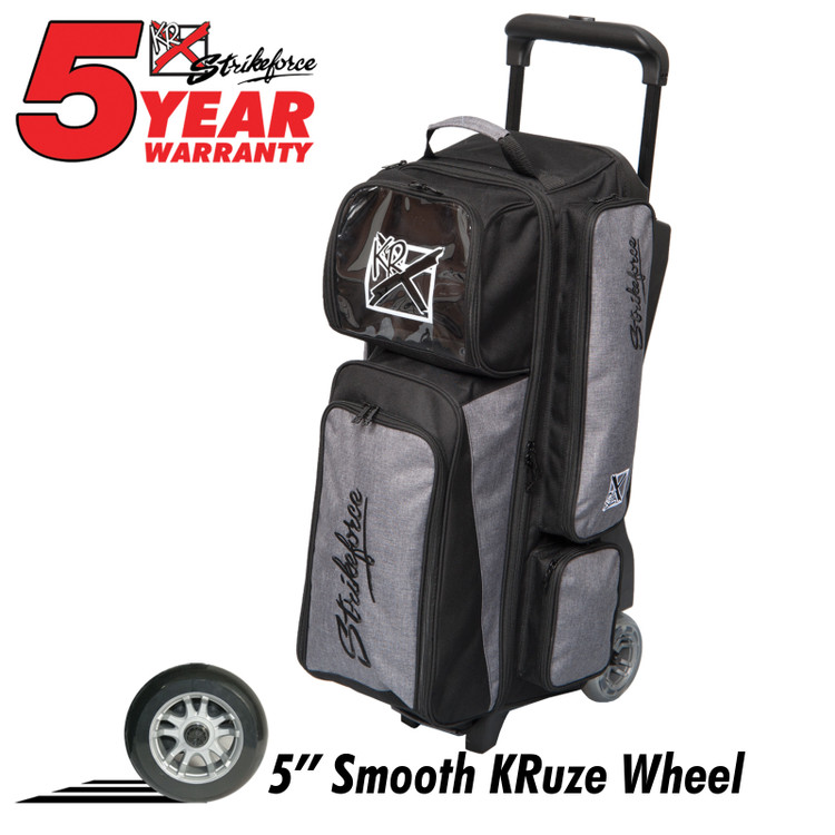 KR Krush 3 Ball Roller Bowling Bag Stone Black