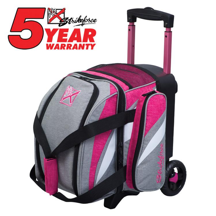 KR Cruiser 1 Ball Single Roller Bowling Bag Stone Pink