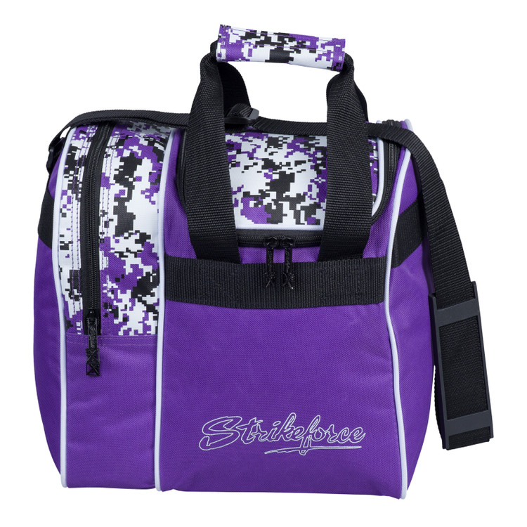 KR Rook Single Tote Bowling Bag Purple Digi Camo