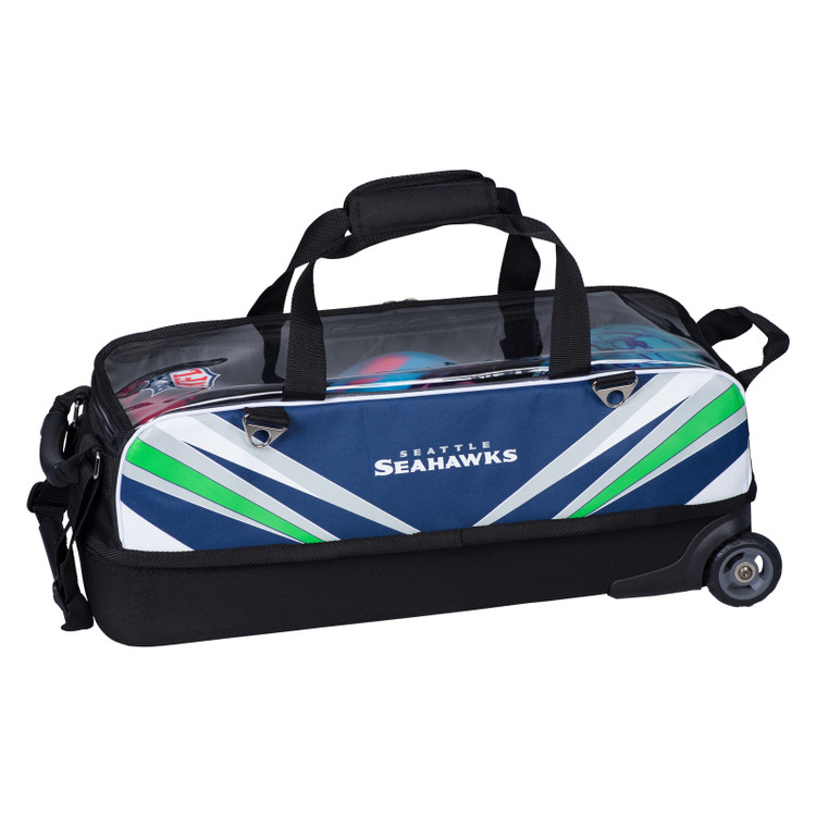 KR NFL 3 Ball Slim Triple Roller Tote Bowling Bag Seattle Seahawks