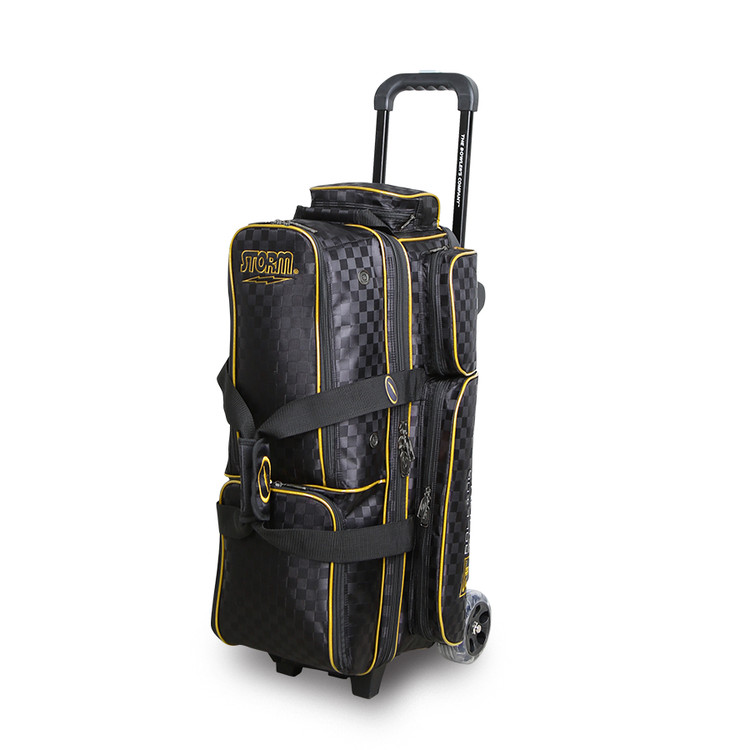 Storm Rolling Thunder 3-Ball Roller Bowling Bag Black Gold