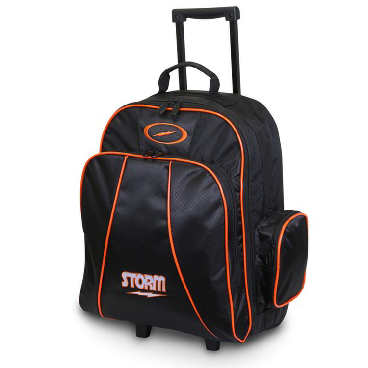 Storm Rascal Single Roller Bowling Bag Black Orange