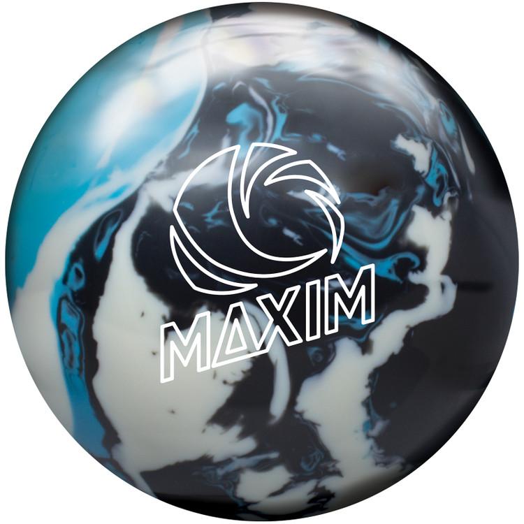 Ebonite Maxim Bowling Ball Captain Planet Front View