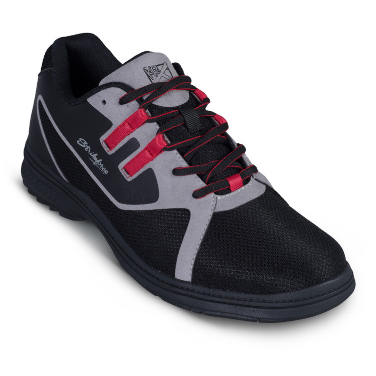 KR Strikeforce Ignite Mens Bowling Shoes Black Red Left Hand