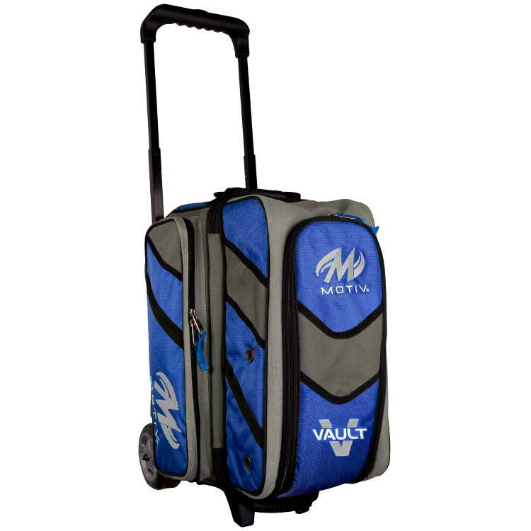Motiv Vault 2 Ball Double Roller Bowling Bag Blue