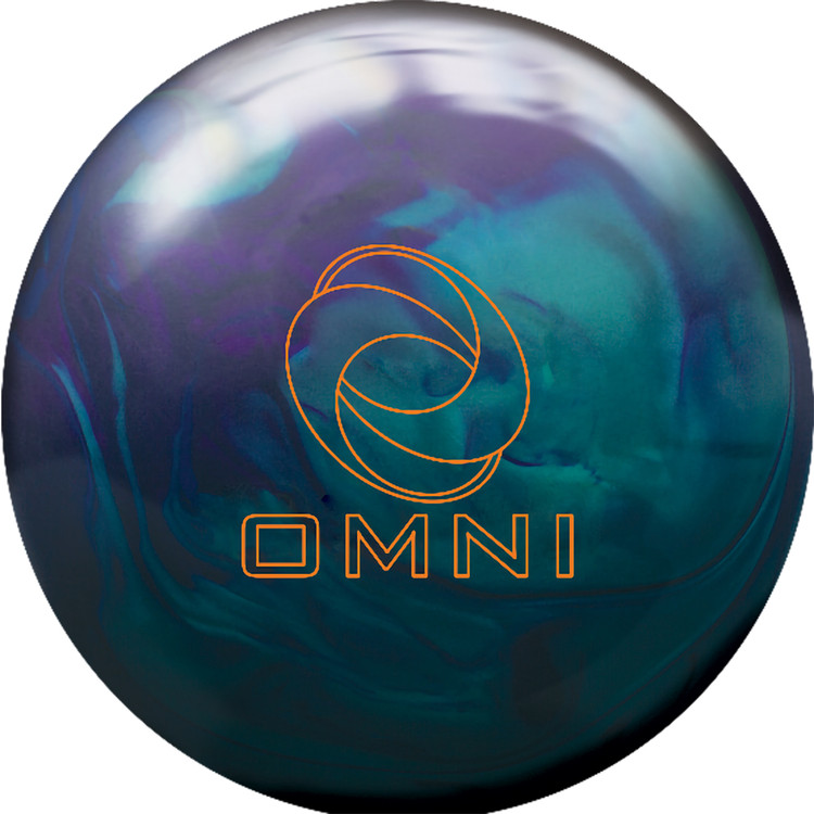 Ebonite Omni Hybrid Bowling Ball Front View