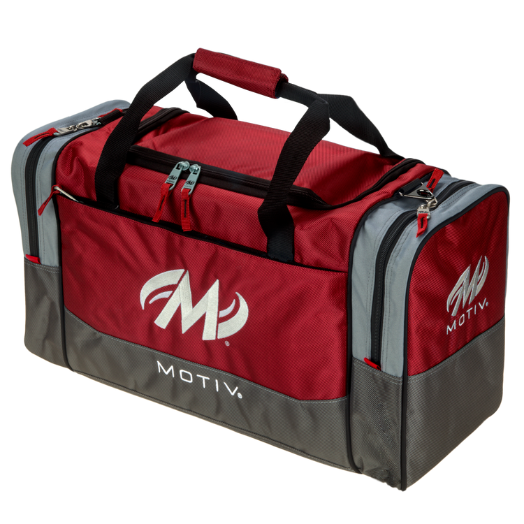 Motiv Shock 2 Ball Double Tote Bowling Bag Red