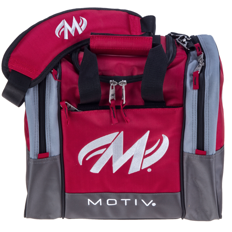 Motiv Shock 1 Ball Single Tote Bowling Bag Red