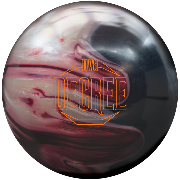 DV8 Decree Pearl Bowling Ball Front View