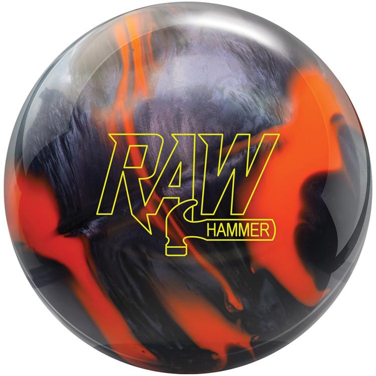 Hammer Raw Bowling Ball Orange Black Front View