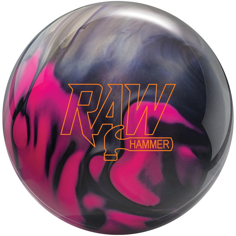 Hammer Raw Bowling Ball Purple Pink Silver Front View