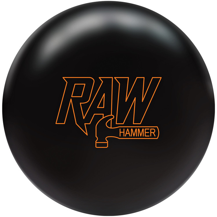Hammer Raw Bowling Ball Black Front View