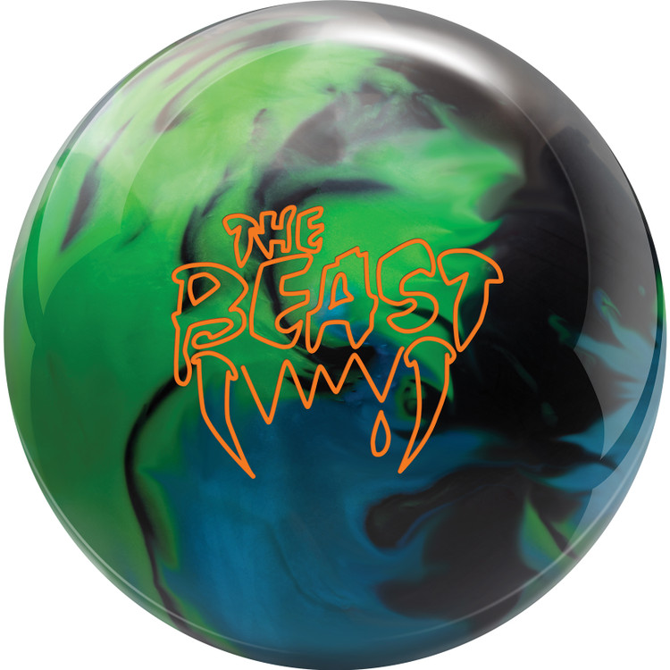 Columbia 300 Beast Bowling Ball Lime Sky Black Front View