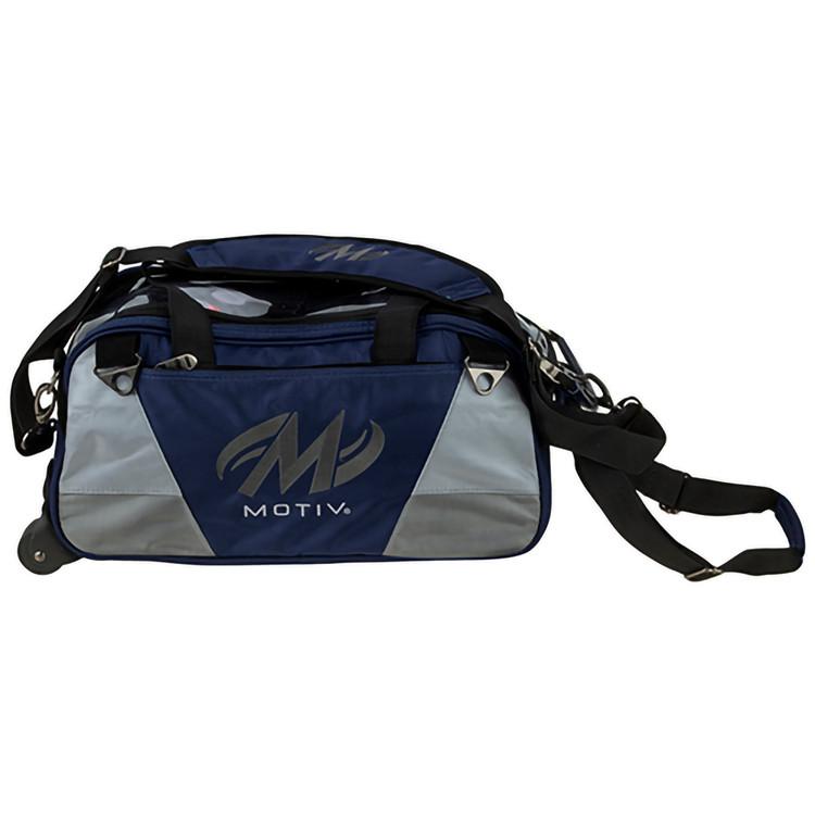 Motiv Ballistix 2 Ball Double Tote Roller Bowling Bag Navy