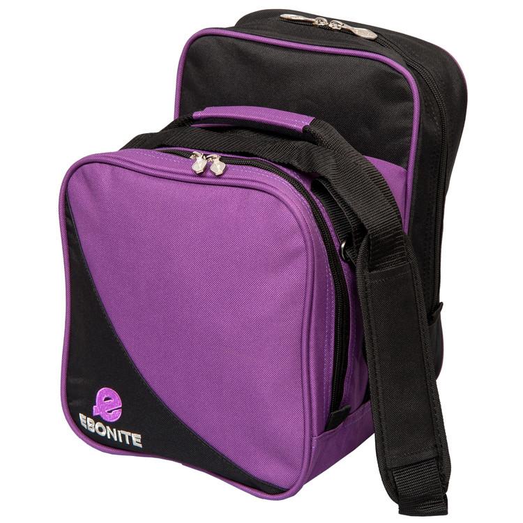 Ebonite Compact 1 Ball Single Tote Bowling Bag Purple