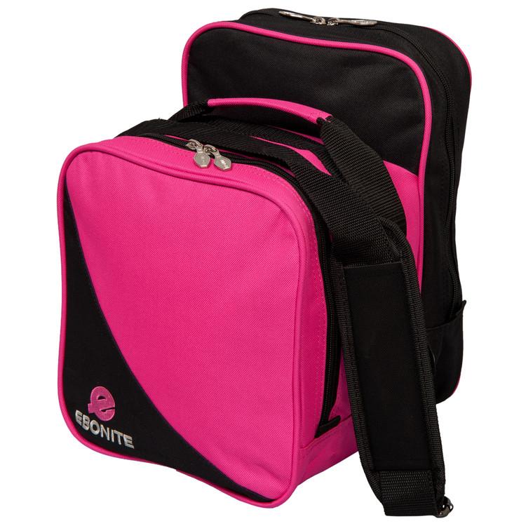 Ebonite Compact 1 Ball Single Tote Bowling Bag Pink