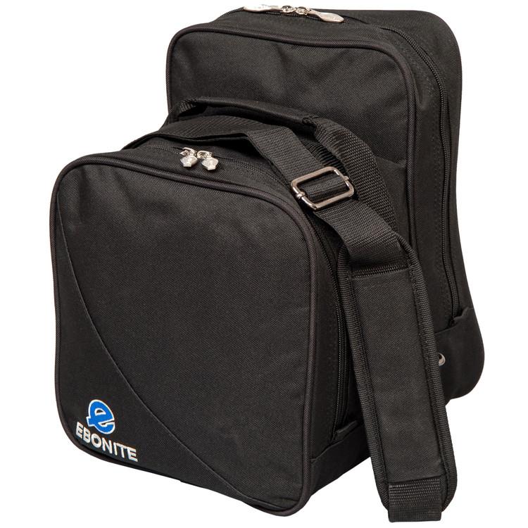 Ebonite Compact 1 Ball Single Tote Bowling Bag Black